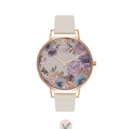 Vegan Friendly Enchanted Garden Nude & Rose Gold Watch