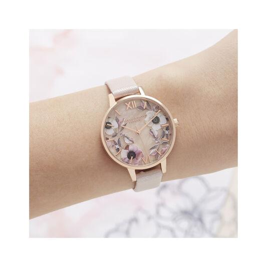 Semi Precious Pink & Rose Gold Watch