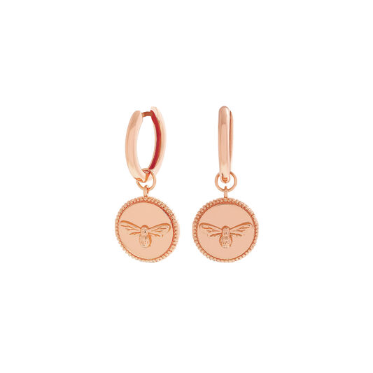 Lucky Bee Coin Rose Gold Huggies