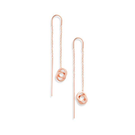 Interlink Threader Earrings Rose Gold