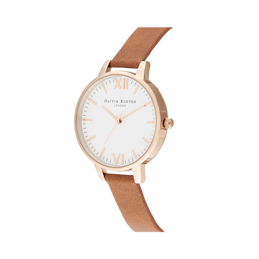 Timeless Tan & Rose Gold Watch