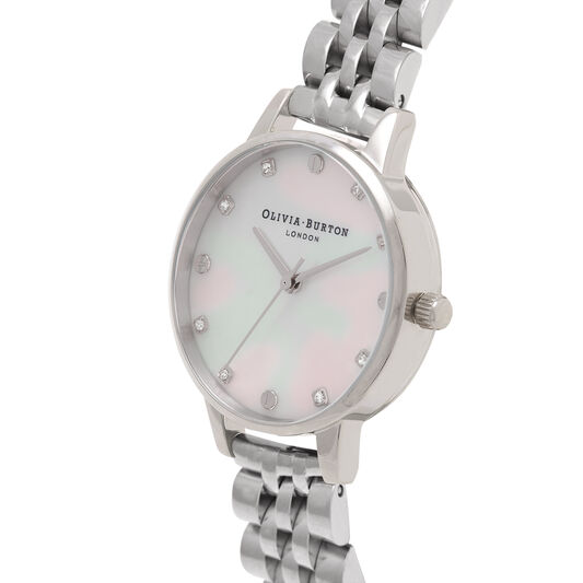 Midi Classic Pearl Dial Silver Bracelet Watch