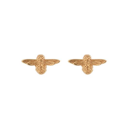 3D Bee Gold Studs
