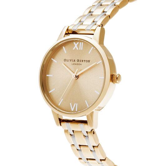 Midi Dial Pale Gold & Silver Watch