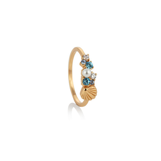 Under The Sea Shell Gold Ring L