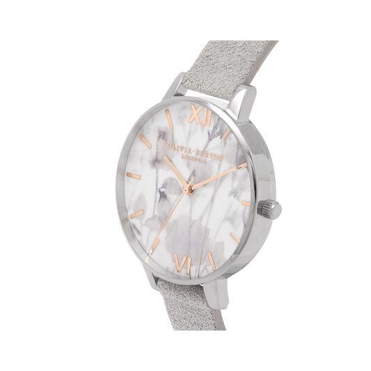 Eco Friendly Grey Lilac, Silver Watch