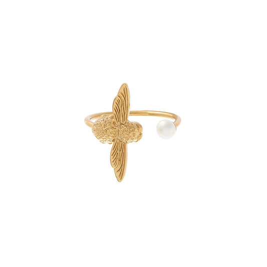 Pearl Bee Gold Ring