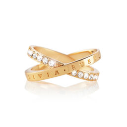 Bejewelled Interlink Ring Gold