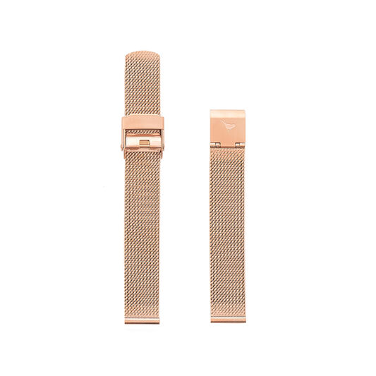 Big Dial Rose Gold Mesh Strap