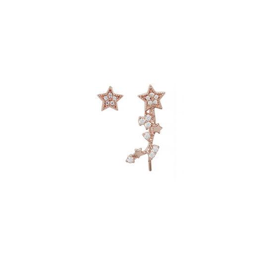 Celestial Crawler & Stud Rose Gold Earring