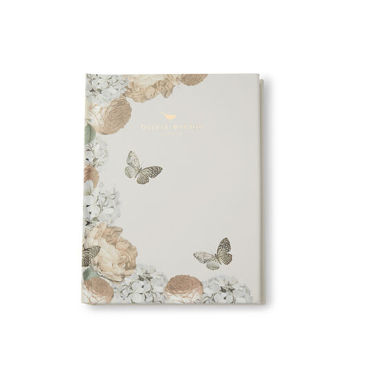 Gray Floral Notebook