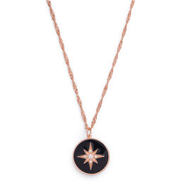 North Star Black & Rose Gold Pendant