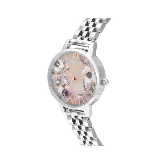 Midi Rose Quartz & Silver Bracelet Watch
