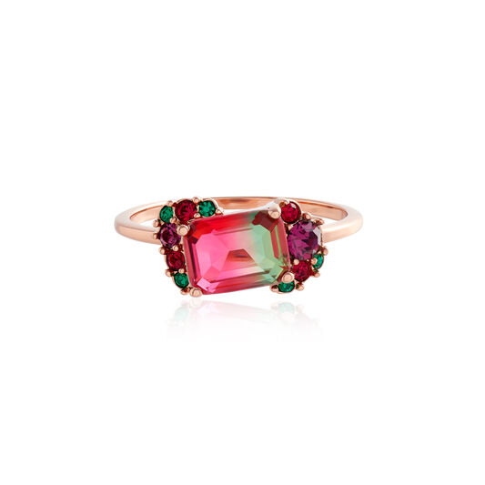 Bague Jewel Rainbow tourmaline et or rose (M)