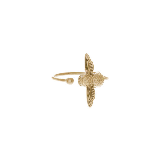 3D Bee Gold Ring