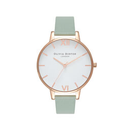 Big Dial Mint & Rose Gold Watch