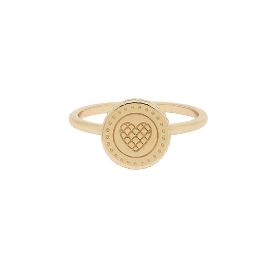 Tea Party Biscuit Gold Ring