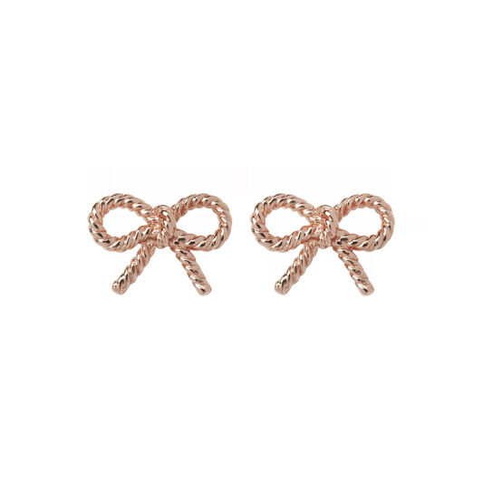 Vintage Bow Rose Gold Earrings