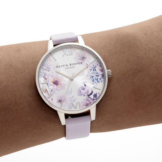 Sunlight Florals Violet & Silver Watch