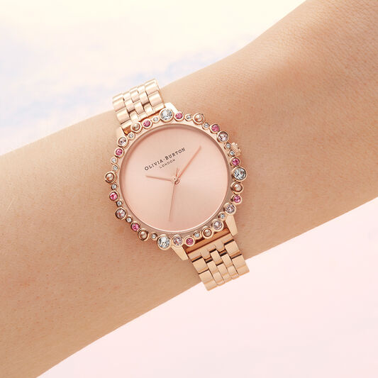 Limited Edition Bejewelled & Rose Gold Bracelet Watch