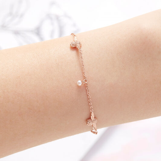 Pearl Bee Rose Gold Bracelet