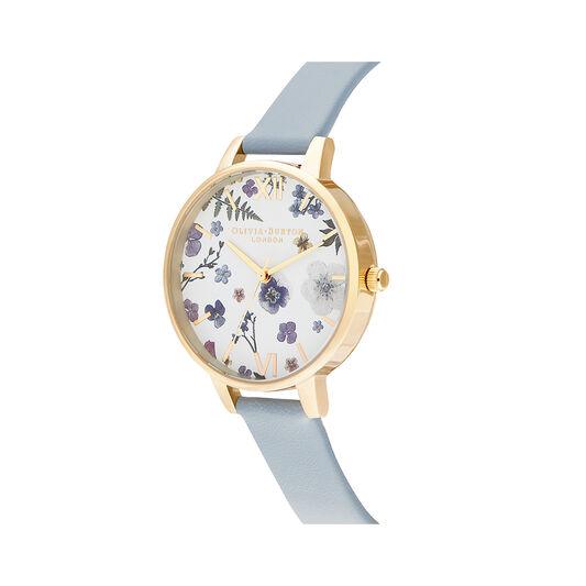 Artisan Vegan Blue & Gold Watch