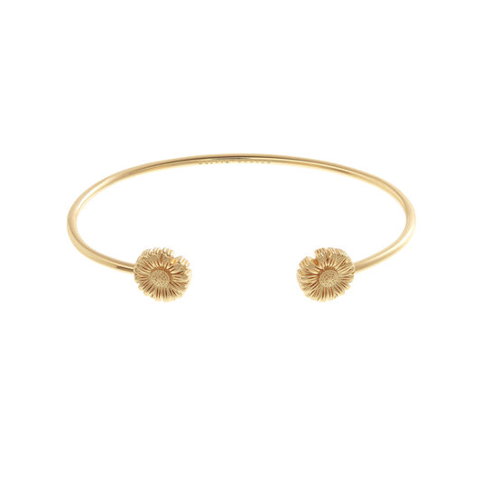 Daisy Open Ended Bangle Gold