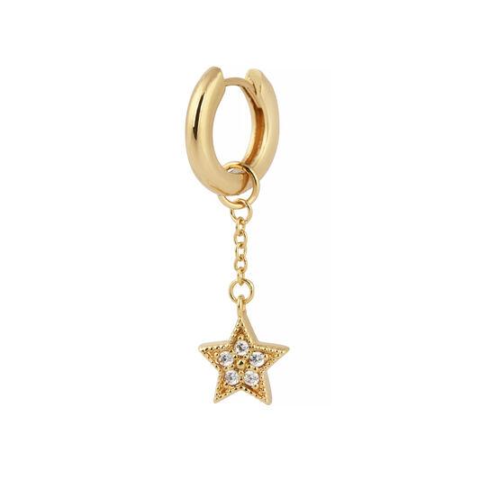 Celestial Huggie Charm Gold