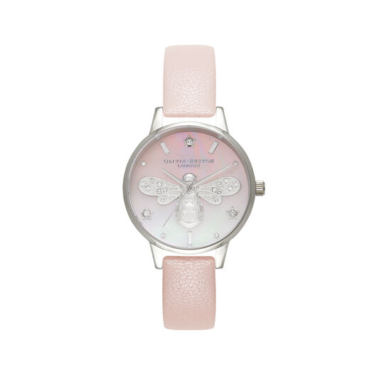 Sparkle Bee Pearl Pink & Silver Watch