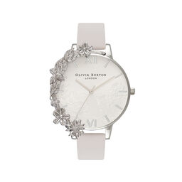 Case Cuff Lace Blush & Silver Watch