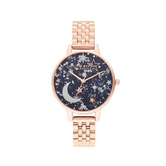 Celestial Navy & Rose Gold Watch