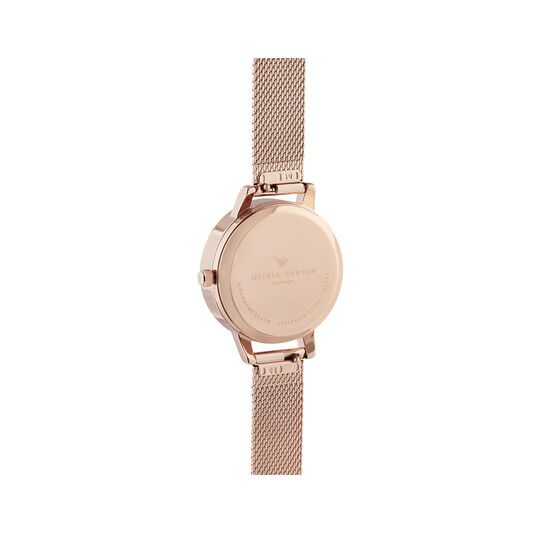 Meant to Bee Blush, Silver & Rose Gold Mesh