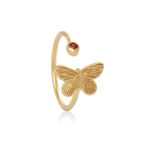 Bejewelled Butterfly Gift Set Gold & Red Crystal