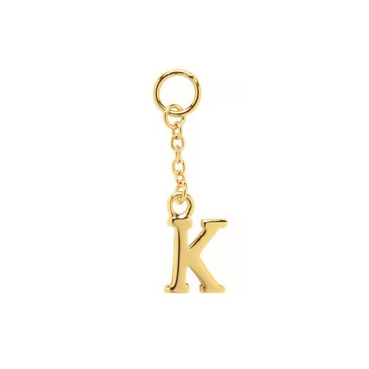 K Huggie Charm Gold
