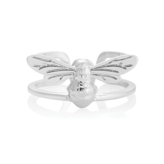 Lucky Bee Ring Silver