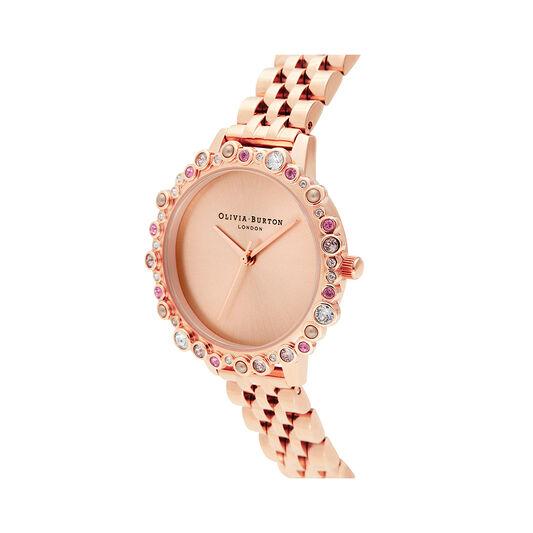 Limited Edition Bejewelled & Rose Gold Bracelet Watch