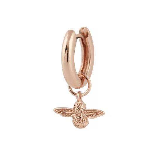 3D Bee Rose Gold Huggie Hoop Earrings