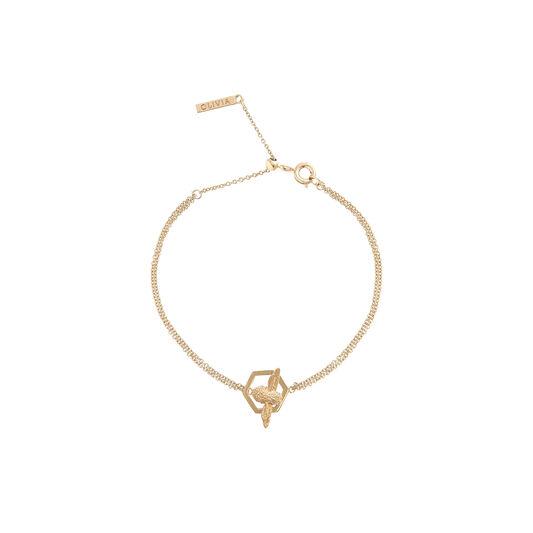 Honeycomb Bee Gold Bracelet