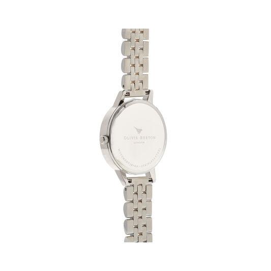 White Dial Silver & Gold Bracelet Watch