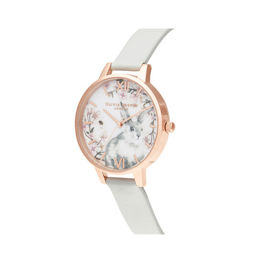 Bunny Vegan Grey & Rose Gold Watch