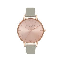 Big Dial Grey & Rose Gold Watch