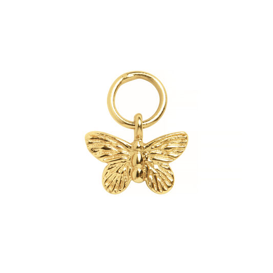 Butterfly Huggie Charm Gold