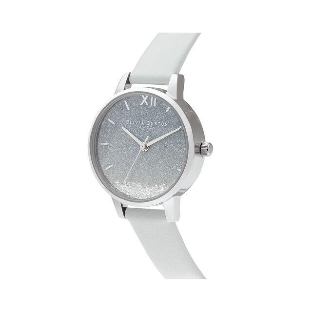 Wishing Wave Glitter Eco Friendly, Grey & Silver Watch