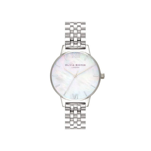 Mother of Pearl White Bracelet, Silver