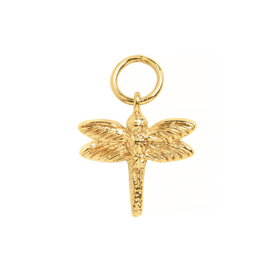 Gold Dragonfly Huggie Charm