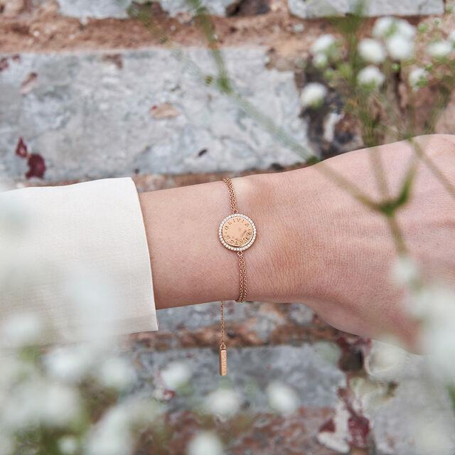 Bejewelled Classics Disc Rose Gold Bracelet