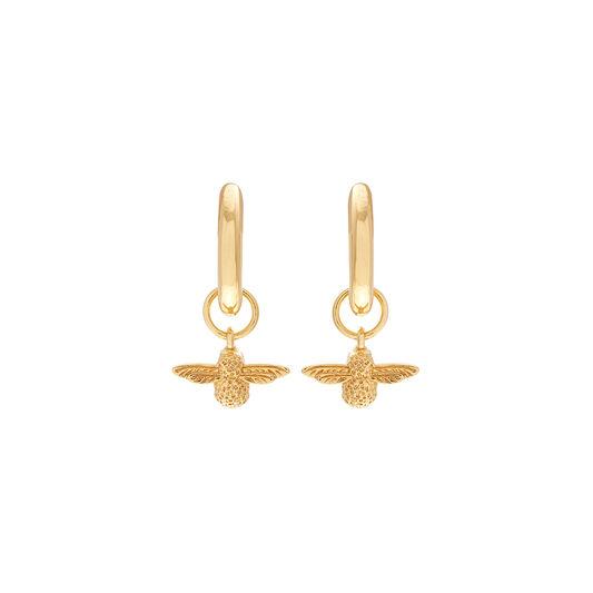 3D Bee Gold Huggie Hoop Earrings