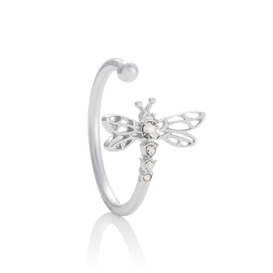 Dancing Dragonfly Ring Silver