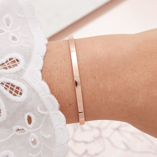 Engravables Drop Bar Bracelet Rose Gold