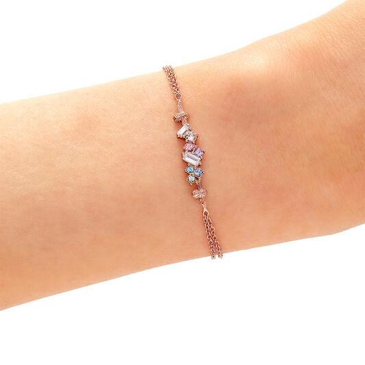 Rainbow Bee Rose Gold Bracelet